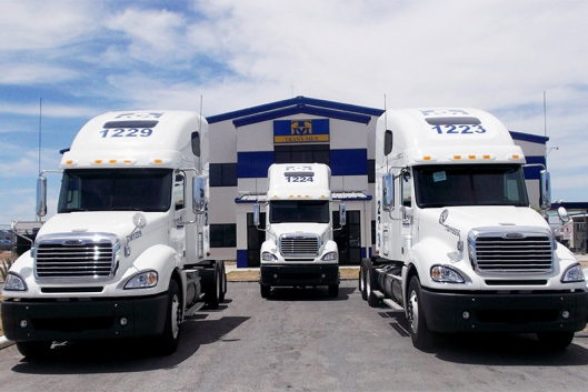 A Freightliner Trans-Mex trucking fleet. (Photo Credit: Daimler AG)